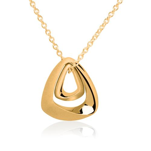 Silberanhänger mit 2 Schmuckelementen vergoldet