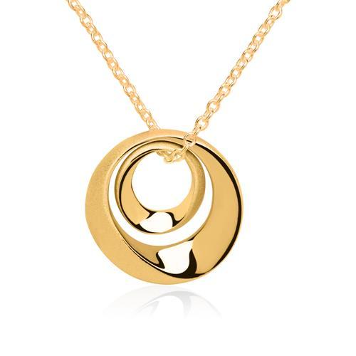 Vergoldeter 925er Silberanhänger Oval