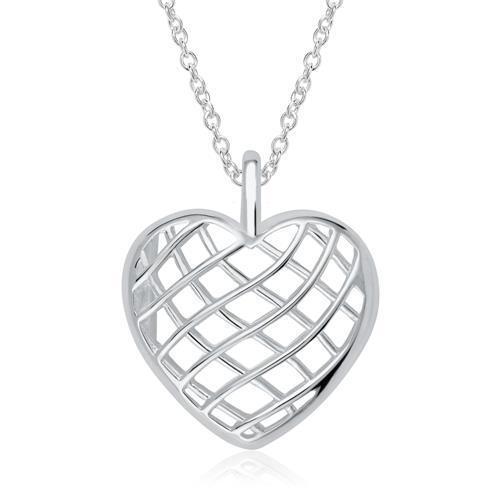 Medaillon Kette Herz aus 925er Silber