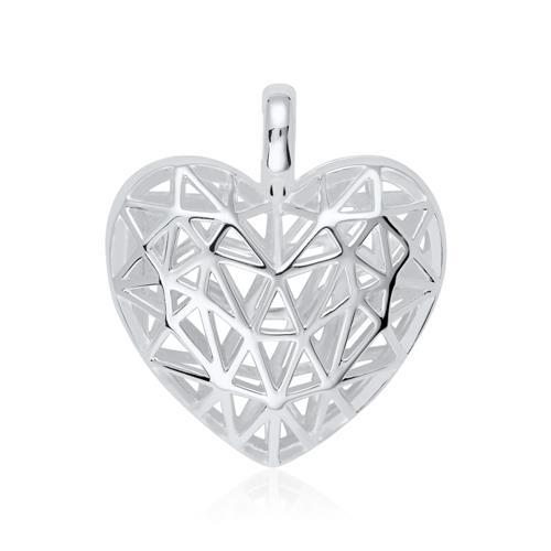 925er Silber Medaillon Herz