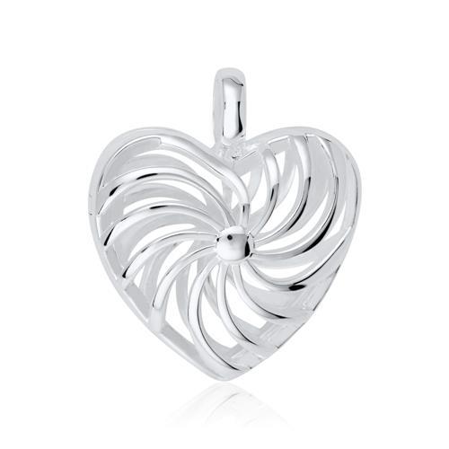 Kette mit Medaillon Herz aus Sterlingsilber