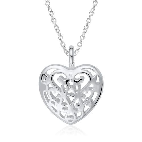 Herz Medaillon aus Sterlingsilber