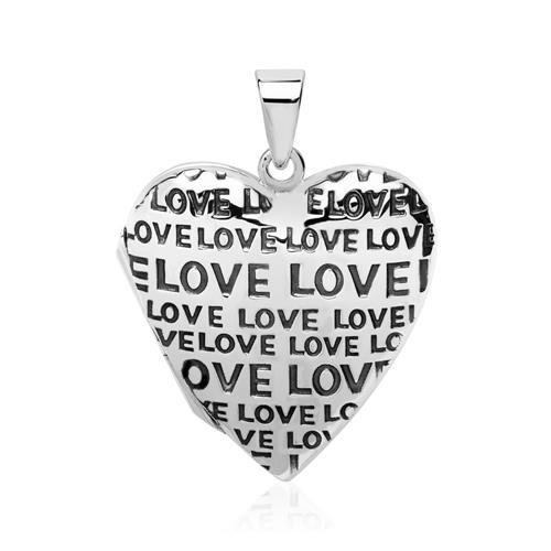 Sterlingsilber Herzmedaillon Love gravierbar