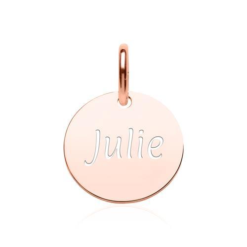 Gravur Kette Kreis aus rosévergoldetem 925er Silber