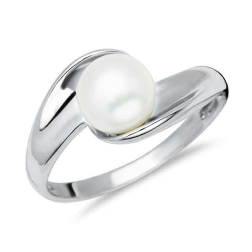 925 Silber Ring mit Perle