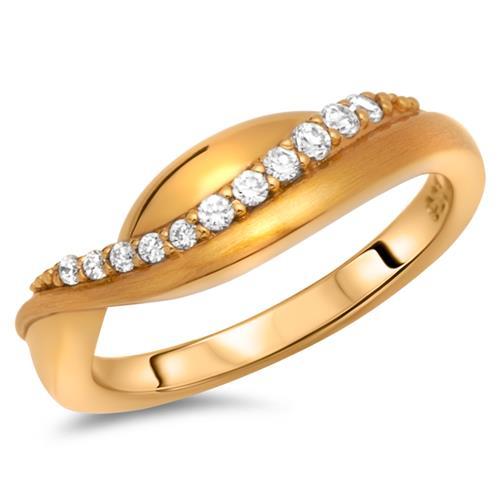 Moderner Ring 925 Silber vergoldet