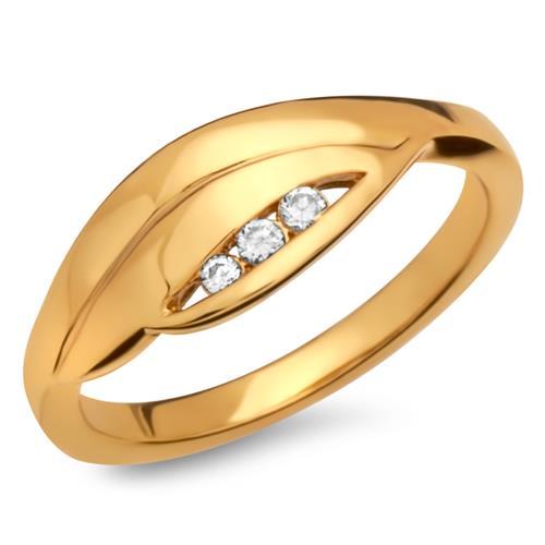 Modischer vergoldeter Silberring Zirkonia
