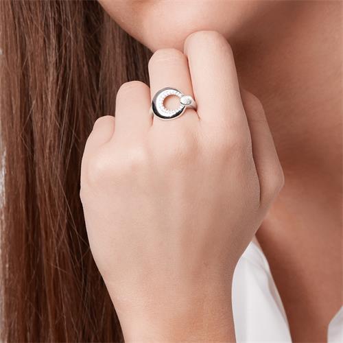 Modischer Ring 925 Silber Zirkonia