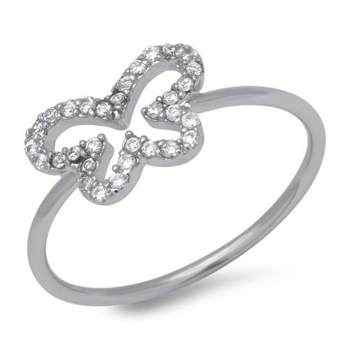 925 Silber Ring Schmetterling Zirkonia