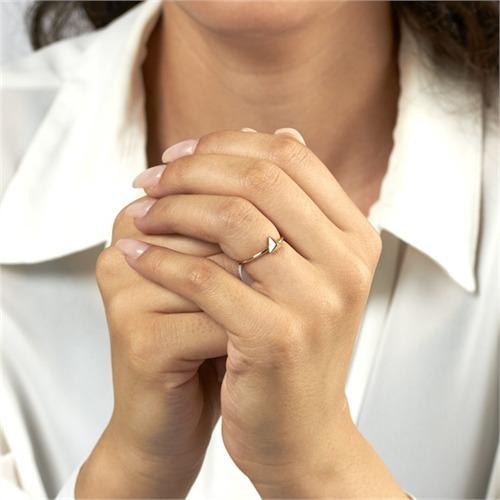 Ring Pyramide 925er Silber vergoldet