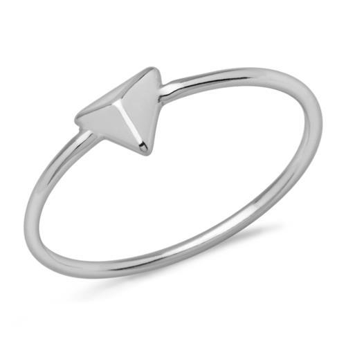 Geometrischer Ring Pyramiden-Design 925er Silber