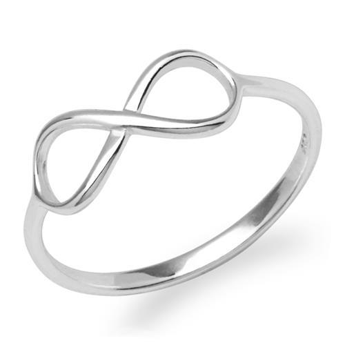 Silberner Ring Unendlichkeitssymbol 925er Silber