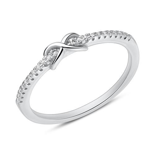 Ringe silber  925 Silber Ring mit Herzen und Zirkonia SR0107