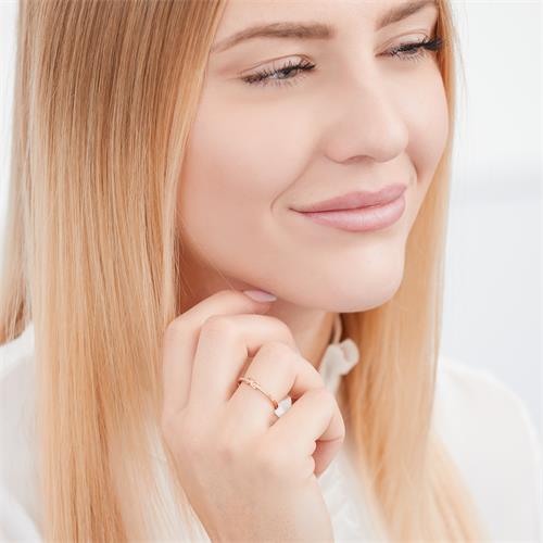 Filigraner Ring 925er Silber rosé Infinitysymbol