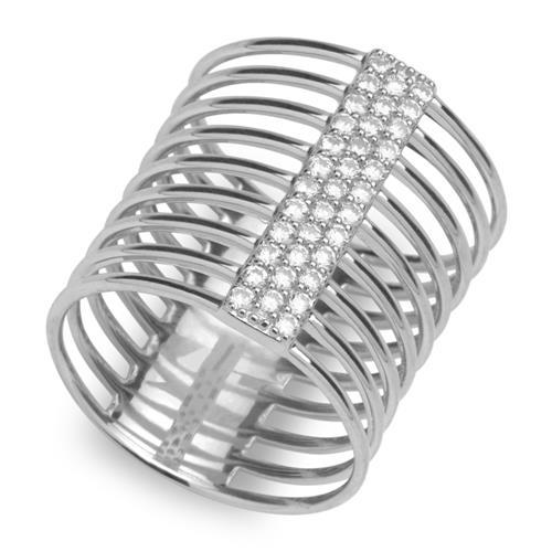 Extravaganter Multiring Zirkonia 925er Silber