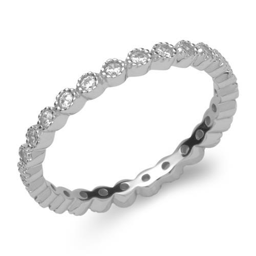 Funkelnder Silberring 925er Silber Zirkonia