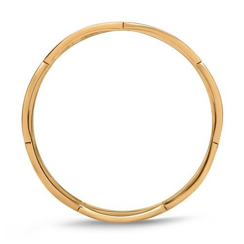 Ladys Hipster Ring verflochten vergoldet