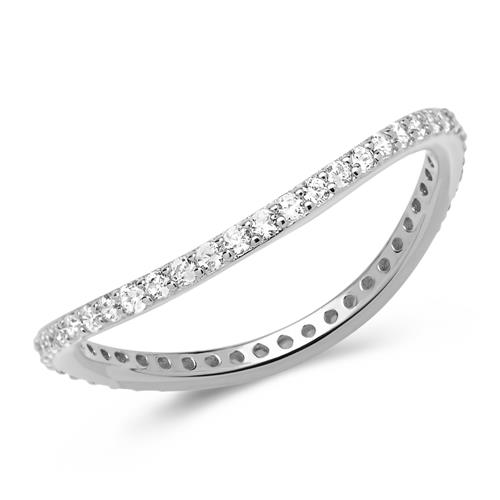 Filigraner geschwungener Ring 925er Silber