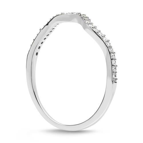 Filigraner 925er Silber Ring mit Zirkonia