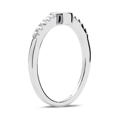 Ring 925er Silber hochglanzpoliert Zirkoniasteine