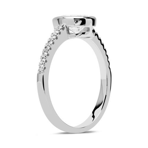 Sterlingsilber Ring Tropfen Zirkonia