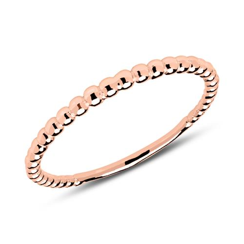 Kugel Ring aus rosévergoldetem 925er Silber