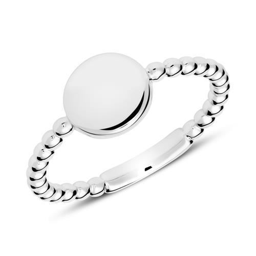 Ring im Kugeldesign aus 925er Silber gravierbar