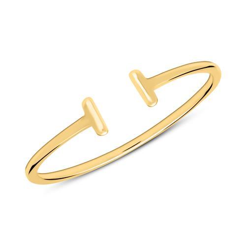 Minimalistischer Ring aus vergoldetem 925er Silber