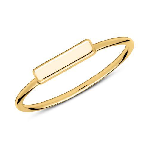 Vergoldeter 925er Silberring im Stäbchen Design
