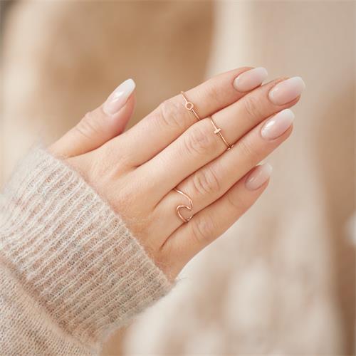 Stäbchen Ring aus rosévergoldetem 925er Silber