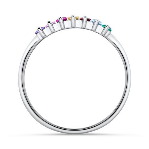 925er Silberring für Damen mit bunten Zirkonia