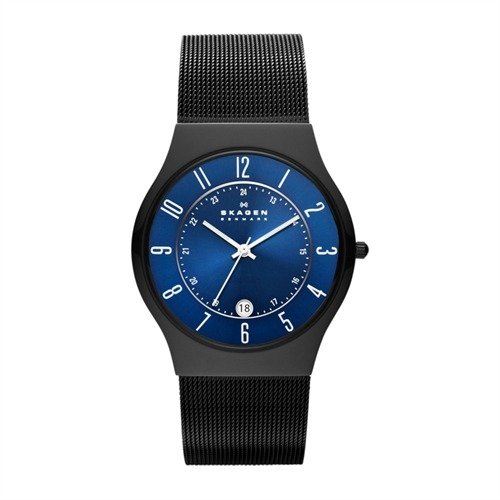 skagen herrenuhr grenen blaues zifferblatt t233xltmn. Black Bedroom Furniture Sets. Home Design Ideas