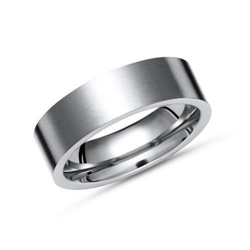 Schlichter matter Ring Titan in 7mm Breite - TR...