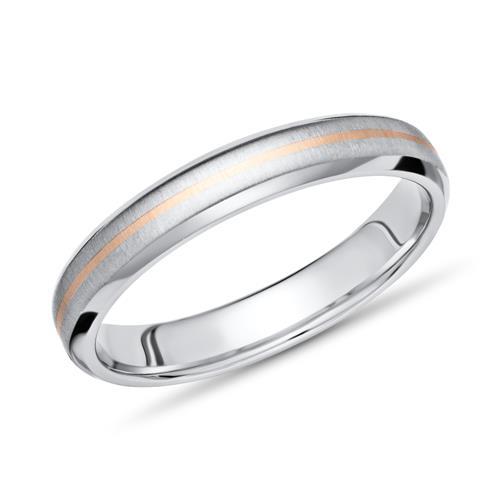 Exklusiver Ring Titan mit Einlage Gold 4mm breit