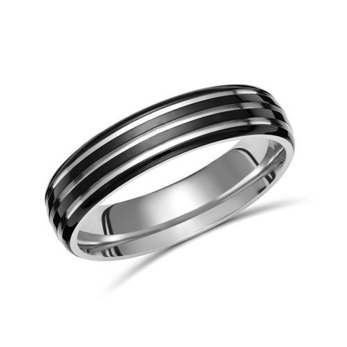 Schwarzer Ring Titan Ionic Black Plating TR0069