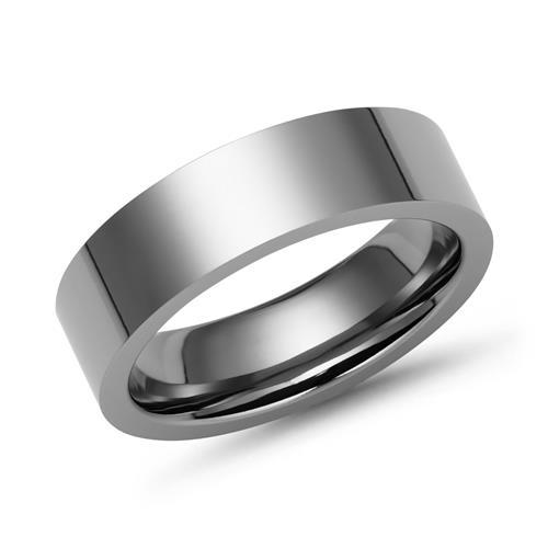 Moderner Ring Titan 6mm hochglanz poliert
