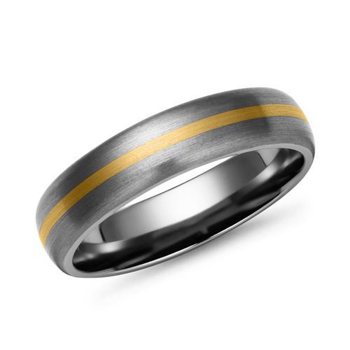 Matter Titan Ring mit 585 Gold Einlage