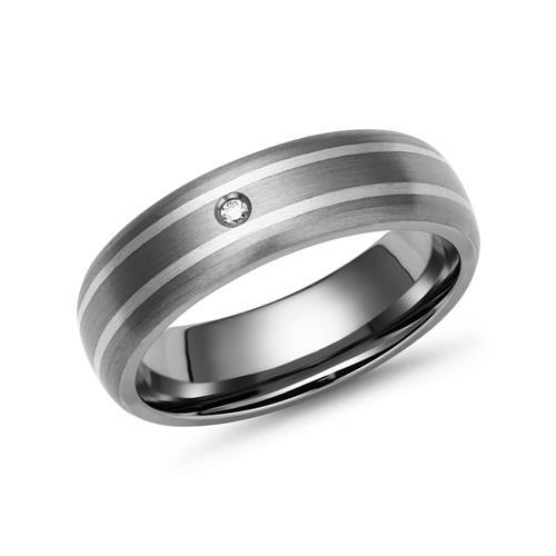 Trauringe Titan Eheringe Silber Einlage