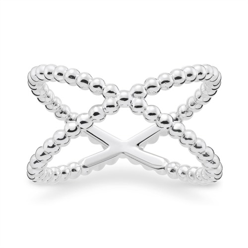 Cross Ring 925er Silber