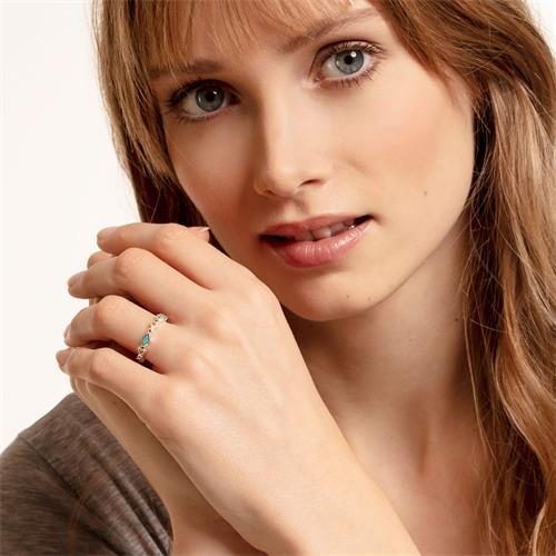 Sterlingsilber Ring Farbige Steine