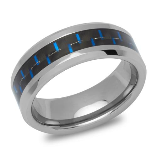 Exklusiver Wolframring Carbon robust