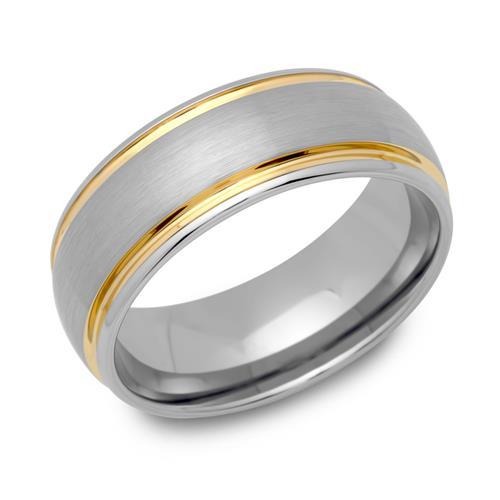 Zweifarbiger Ring Wolfram