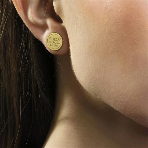 Studs American Dream stainless steel, gold plated