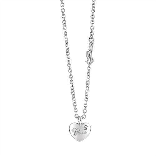 Verspielte Guess-Kette Hearts And Roses silber UBN21526