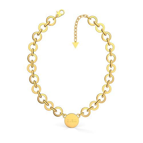 Gravur Damenkette Peony Art aus Edelstahl, vergoldet