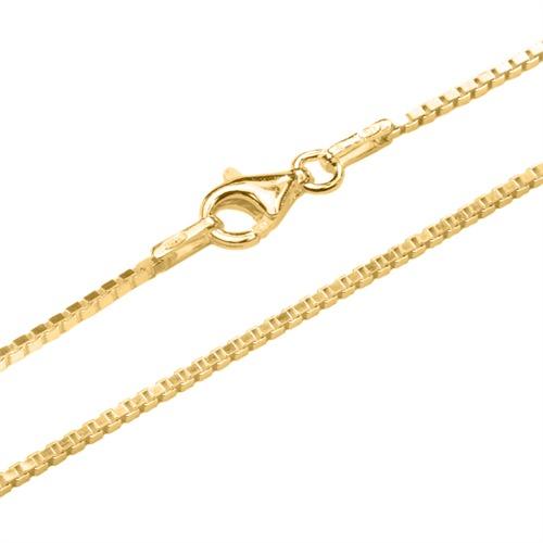 Ketten - Venezianerkette 1,2 mm aus vergoldetem 925er Silber  - Onlineshop The Jeweller