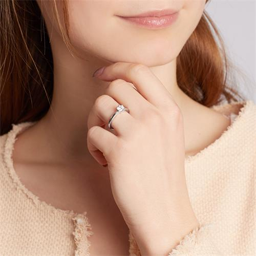 Moderner Verlobungsring 925er Silber Zirkonia