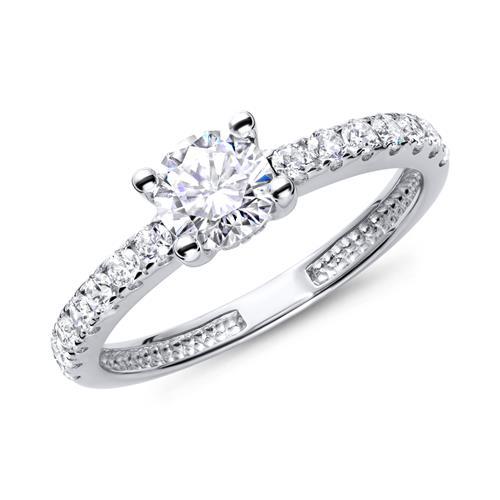 Verlobungsringe silber  Verlobungsring 925 Silber Zirkonia VR0025SL