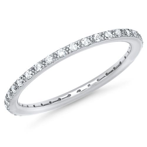 Verlobungsring Silber Zirkoniabesatz 1,5mm