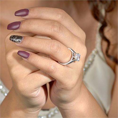 Verlobungsring Silber Zirkoniabesatz 8mm